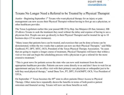 New Law : Texans No Longer Need a Referral to be Treated